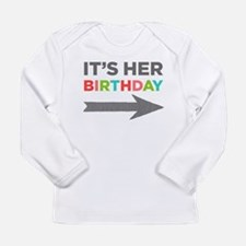 Her Birthday (right) Infant Long Sleeve T-Shirt