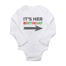 Her Birthday (right) Long Sleeve Baby Body Suit