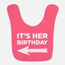 It's Her Birthday (left Arrow) Bib