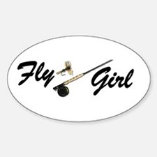 Cute Flyfishing Decal