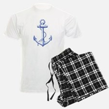 vintage navy blue anchor Pajamas