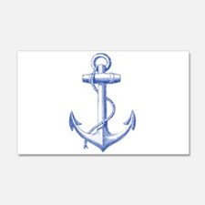 vintage navy blue anchor Wall Decal
