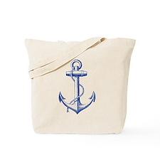 vintage navy blue anchor Tote Bag