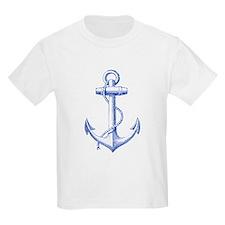 vintage navy blue anchor T-Shirt