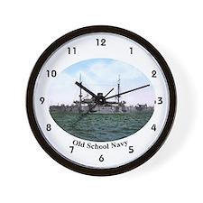 USS Texas 1898 Old School Navy Battlesh Wall Clock