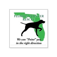 "Florida Pointer Rescue Square Sticker 3"" x 3"""