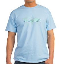 Wanderlust, teal world map T-Shirt