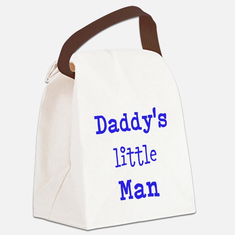 Daddy's Little Man Canvas Lunch Bag
