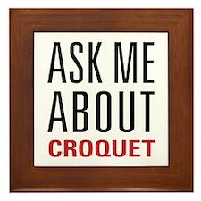 Croquet - Ask Me About Framed Tile