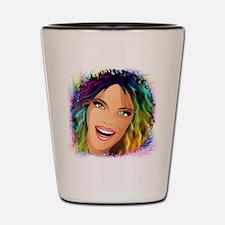 Happy Girl Rainbow Fashion Hair Shot Glass