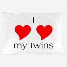 I Heart My Twins Pillow Case