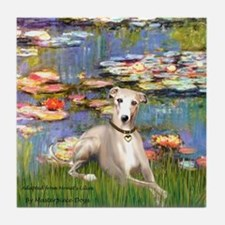 Lilies & Whippet Tile Coaster