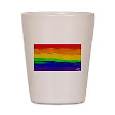 GAY PRIDE RAINBOW ART SIGNED Shot Glass