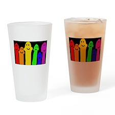 GAY MUSHROOM PEOPLE RAINBOW ART Drinking Glass