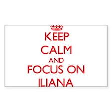Keep Calm and focus on Iliana Decal