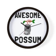 Awesome Possum Wall Clock