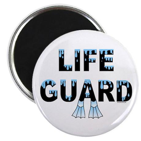 """Life Guard Black 2.25"""" Magnet (10 pack)"""