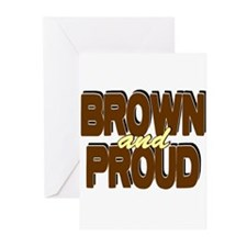 Brown and Proud Greeting Cards (Pk of 10)