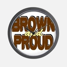 Brown and Proud Wall Clock
