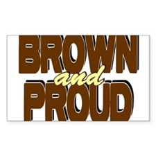 Brown and Proud Rectangle Decal