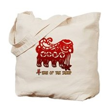 Year of The Sheep Goat Tote Bag