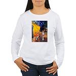Cafe & Whippet Women's Long Sleeve T-Shirt