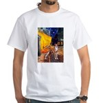 Cafe & Whippet White T-Shirt