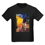 Cafe & Whippet Kids Dark T-Shirt