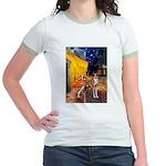 Cafe & Whippet Jr. Ringer T-Shirt