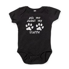 Ask Me About My Staffie Baby Bodysuit