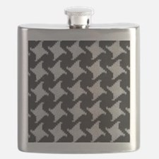 Houndstooth check wool Flask