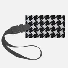 Houndstooth check wool Luggage Tag