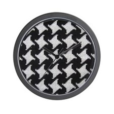 Houndstooth check wool Wall Clock