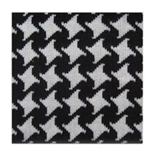 Houndstooth check wool Tile Coaster