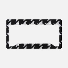 Houndstooth check wool License Plate Holder