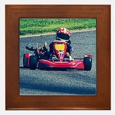 Kart Racer Old Photo Style Framed Tile