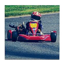 Kart Racer Old Photo Style Tile Coaster