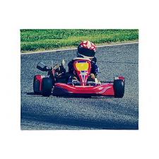 Kart Racer Old Photo Style Throw Blanket