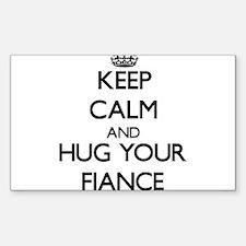 Keep Calm and Hug your Fiance Decal