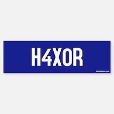 H4X0R Bumper Bumper Bumper Sticker