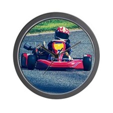 Kart Racer Old Photo Style Wall Clock