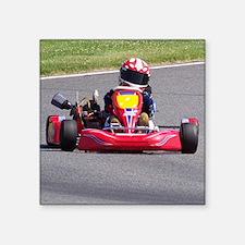 """Kart Racer Square Sticker 3"""" x 3"""""""