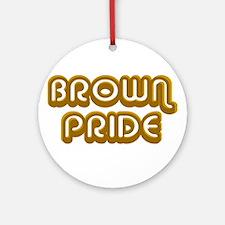 Brown Pride Ornament (Round)