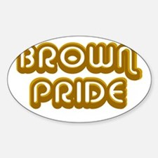 Brown Pride Oval Decal