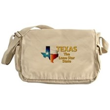 State - Texas - Lone Star State Messenger Bag