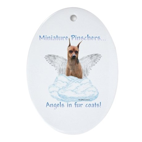 Min Pin Angel Oval Ornament
