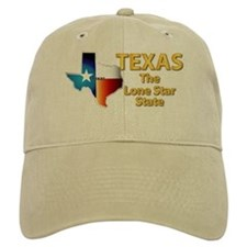State - Texas - Lone Star State Baseball Cap