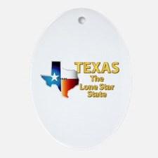 State - Texas - Lone Star State Ornament (Oval)