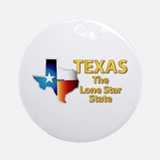 State - Texas - Lone Star State Ornament (Round)