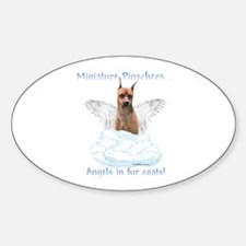 Min Pin Angel Oval Decal